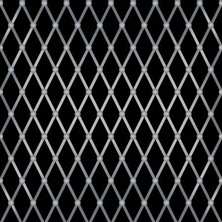 brushed aluminum: Rejilla met�lica de vector patr�n transparente