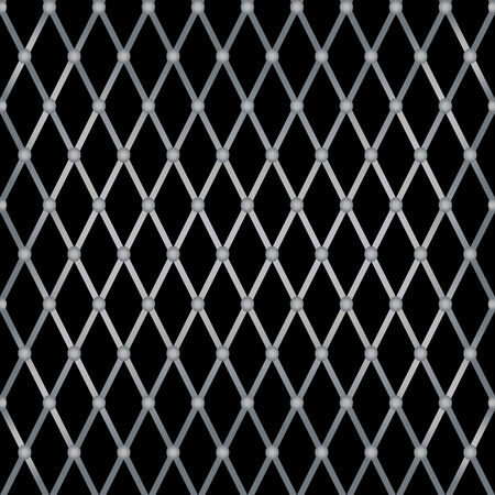brushed aluminum background: Vector Metal Grill Seamless Pattern