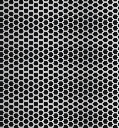 Rejilla metálica de vector patrón transparente