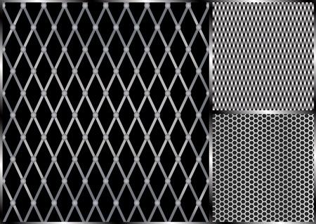 malla metalica: Rejilla met�lica de vector patr�n transparente