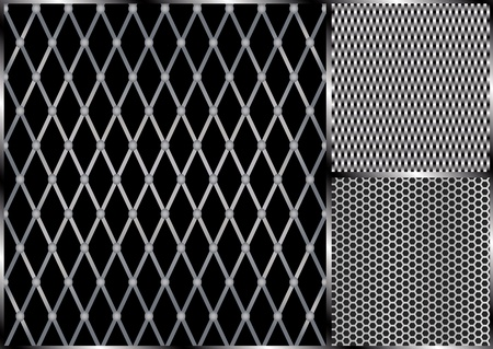 grilled: Vector Metal Grill Seamless Pattern
