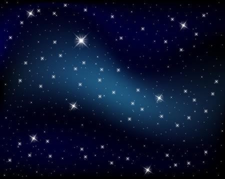 Glitzernde Nächte Himmel mit Sternen und dunklen Raum anzeigen
