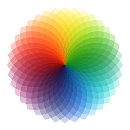 rainbow colours: Circular Pattern set, vector abstract background