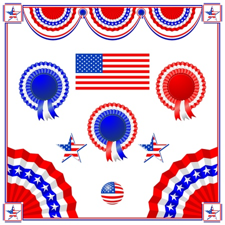 symbolics: National American symbolics - flag and awards