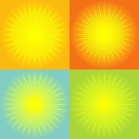 starbursts: Fondo abstracto de sunburst. Vector Vectores