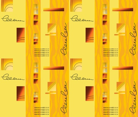 tillable: Yellow-orange seamless background in a strip with squares