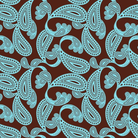 paisley seamless background Stock Vector - 10364984