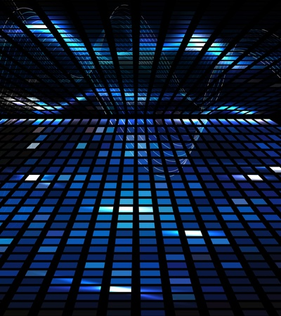 abstract square pixel a blue mosaic background Banco de Imagens - 10474657