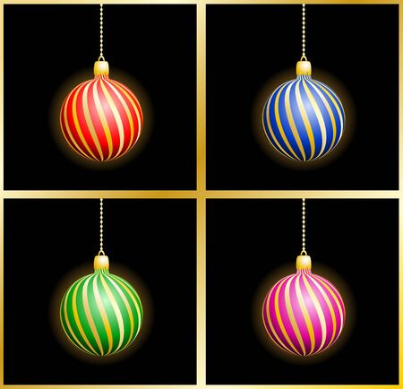 Christmas background with spheres  Vector