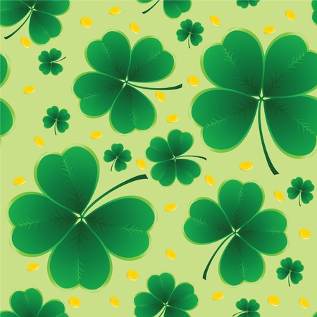 four month: clover background for the St. Patricks Day