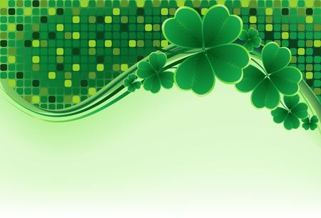 irish banner: clover background for the St. Patricks Day