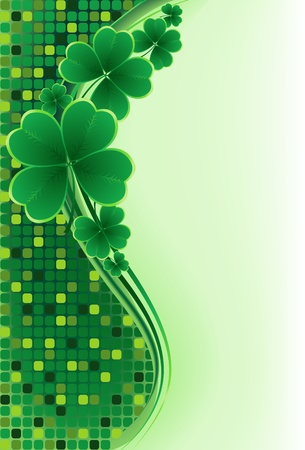lucky plant: clover background for the St. Patricks Day  Illustration