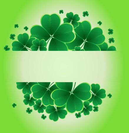 four texture: clover background for the St. Patricks Day  Illustration