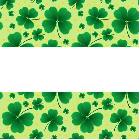 clover background for the St. Patrick's Day Stock Vector - 12480420