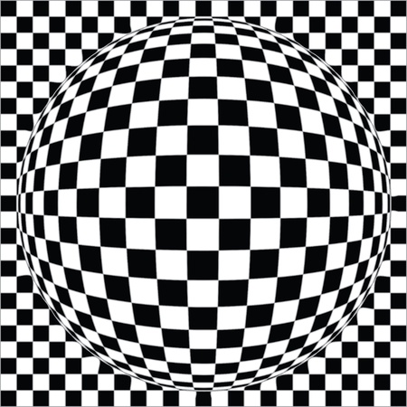 illusions: abstract vector background - it is black - the white imagination
