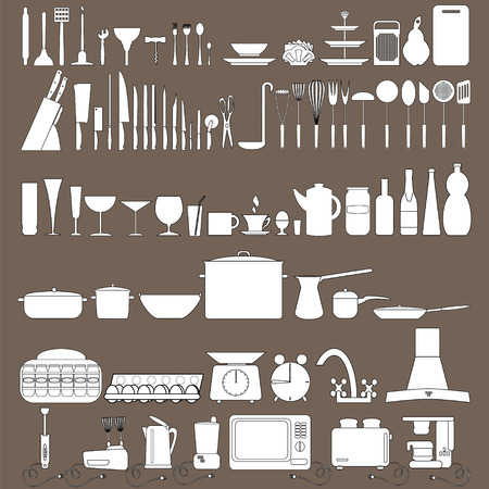 blender: Kitchen tool icons collection can be used for infographics graphic