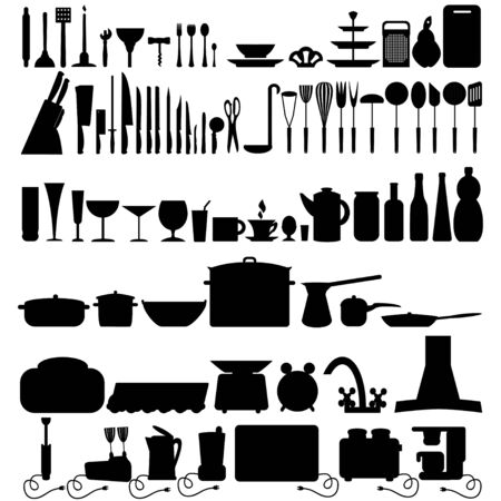 Kitchen tool icons collection can be used for infographics graphic