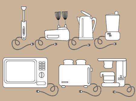 Household appliances, kitchen Electrical appliances  Icons