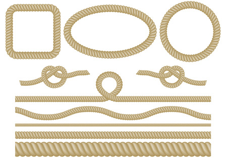 Set of rope elements Ilustrace