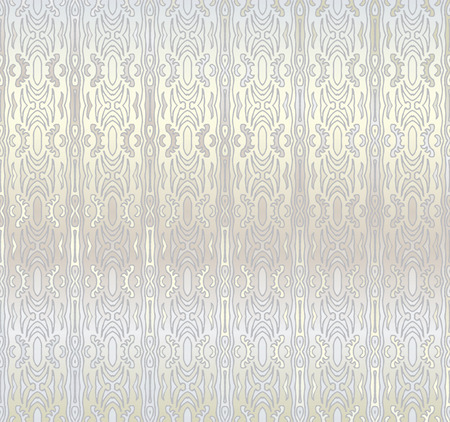 Silver seamless pattern in retro style Vector