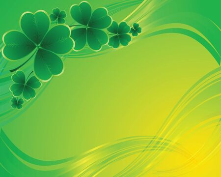 four objects: Vector - clover background for the St. Patricks Day