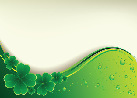 clover banner: Vector - clover background for the St. Patricks Day