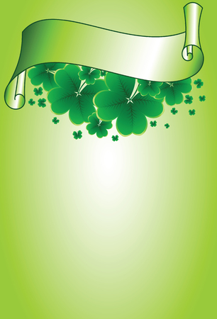 saint patrick's day: Vector - clover background for the St. Patricks Day