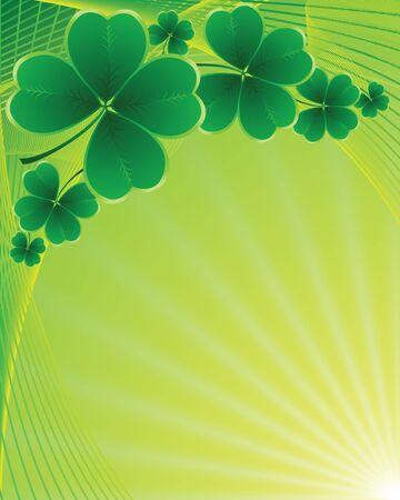 ornamental garden: Vector - clover background for the St. Patricks Day