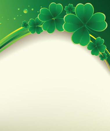 clover backdrop: Vector - clover background for the St. Patricks Day