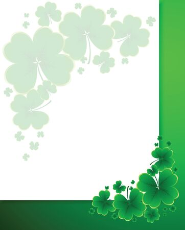 Vector - clover background for the St. Patricks Day Vector