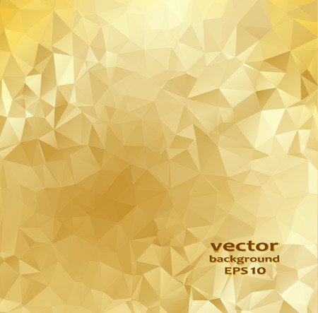 Gold crystal abstract pattern. Vector illustration. Honey background.