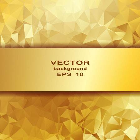 Gold crystal abstract pattern. Business Design Templates Vector