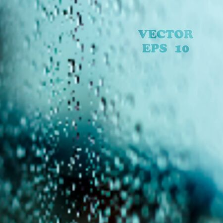rain window: Rainy Window Background, Watching raining view at night through window Illustration