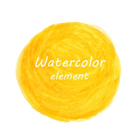 Abstract watercolor art hand paint isolated on white background. Watercolor stains. Square watercolour banner Vector