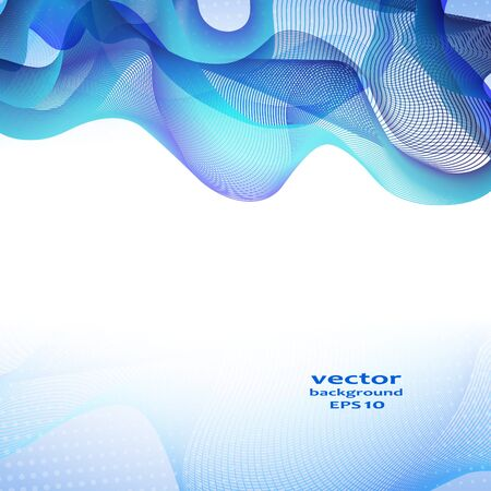 abstractions: Abstract color wave design element. Vector illustration.