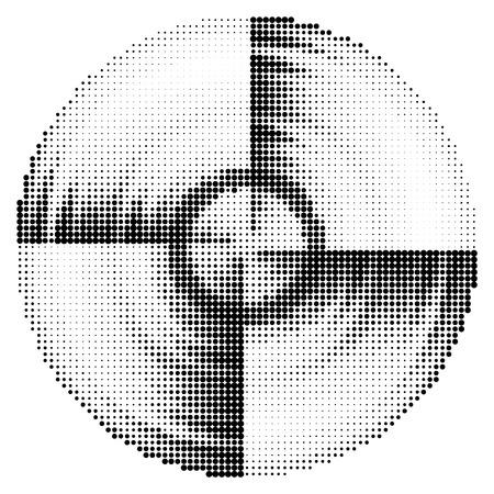 Abstrakt schwarz und weiß gepunkteten Hintergrund. Vektor