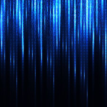matrix code: Abstract binary code background of Matrix style. Vector illustration. Illustration