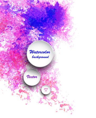 colorful background: Watercolor vector background. Hand drawing with colored spots and blotches.