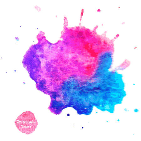 water color: Watercolor vector background. Hand drawing with colored spots and blotches.