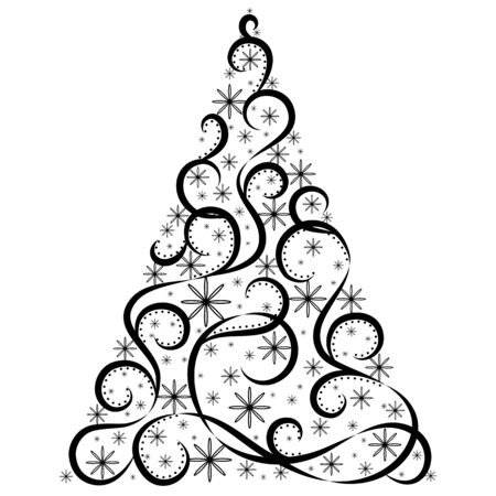 christmas tree illustration: Vector tree of christmas background design. Illustration