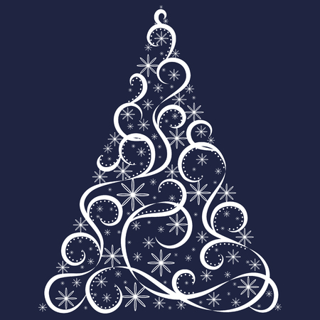 christmas tree illustration: Vector tree of christmas background design. Illustration