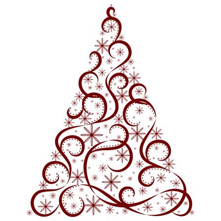 Vector tree of christmas background design. Illustration