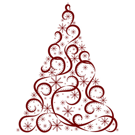 Vector tree of christmas background design. Illustration