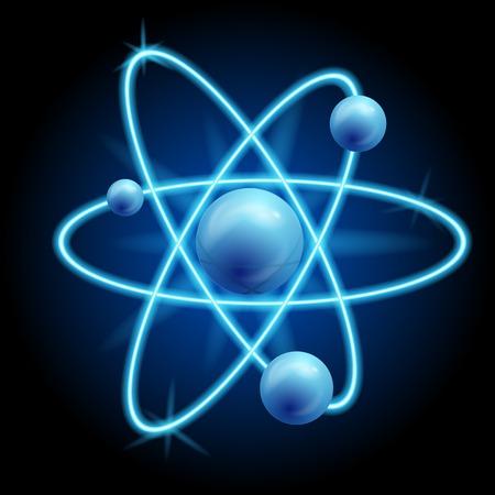 molecular biology: vector abstract atom icon design. vector illustration