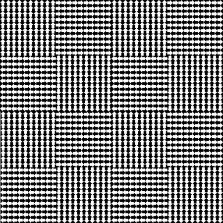 geometric lines: Monochromatic seamless background with arrows. vector illustration