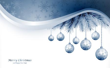 Abstraktní vánoční koule řezat z papíru na pozadí. Vektorové ilustrace