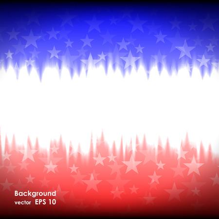 julio: Día de los presidentes de fondo estados unidos Estrellas ilustración vectorial