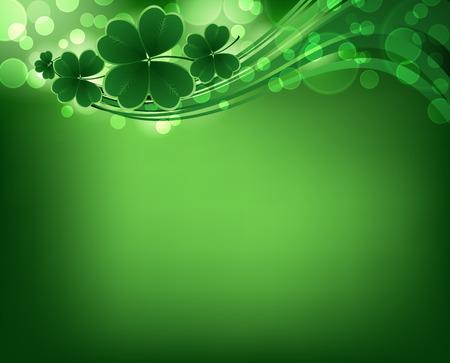 saints: Saint Patricks day background. Clover vector background.