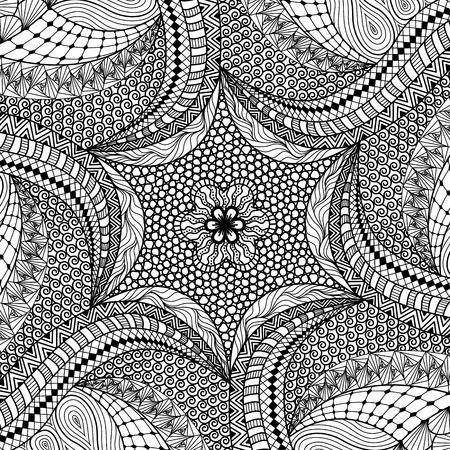 Artistically ethnic pattern. doodle, tribal design element