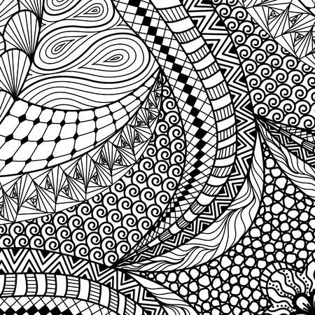 Artistiek etnische patroon. Stock Illustratie